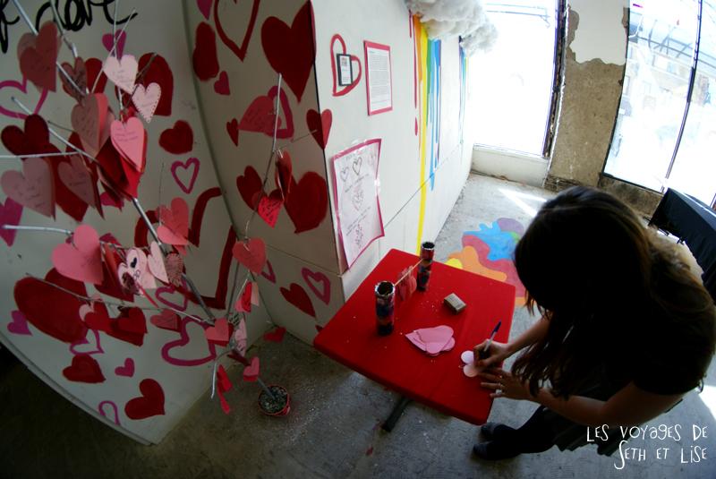 blog pvt canada montreal voyage espace frais peint exposition street art coeur arbre ecrire