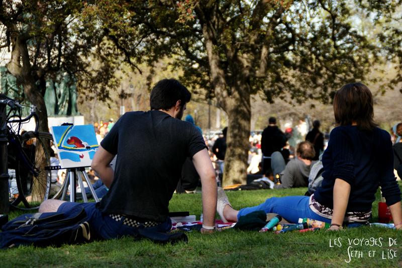 pvt canada montreal mont royal dimanche blog voyage tour du monde couple peintre artiste inspirer parc
