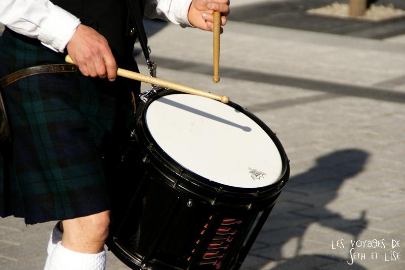 blog pvt canada voyage canada montreal voyage tour du monde fete artiste tambour ecossais scottish