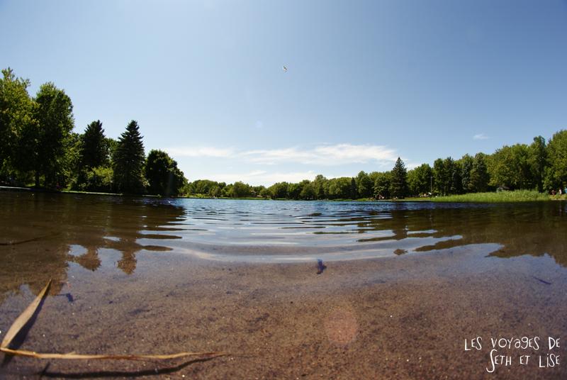 blog pvt canada montreal couple voyage lac castor mont royal pique nique parc