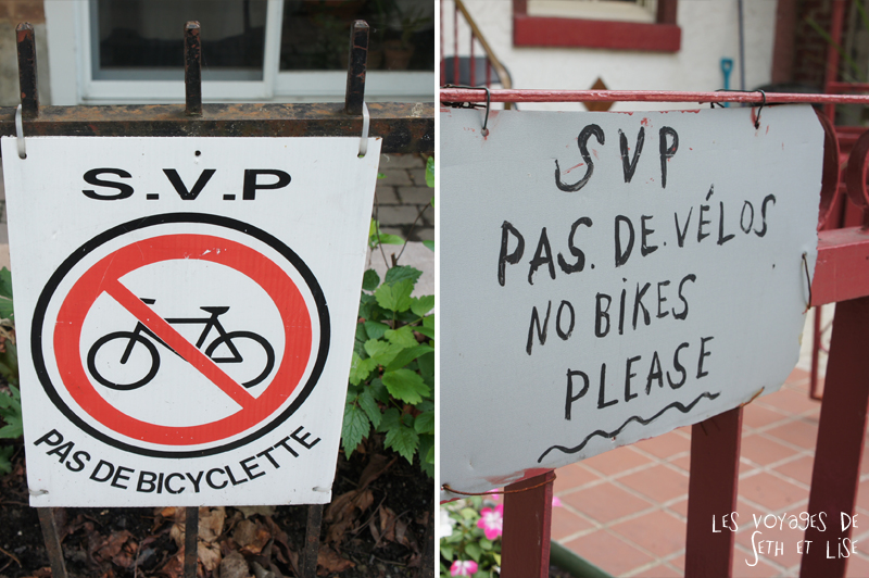 blog canada montreal voyage pvt insolite drole velo panneau interdit