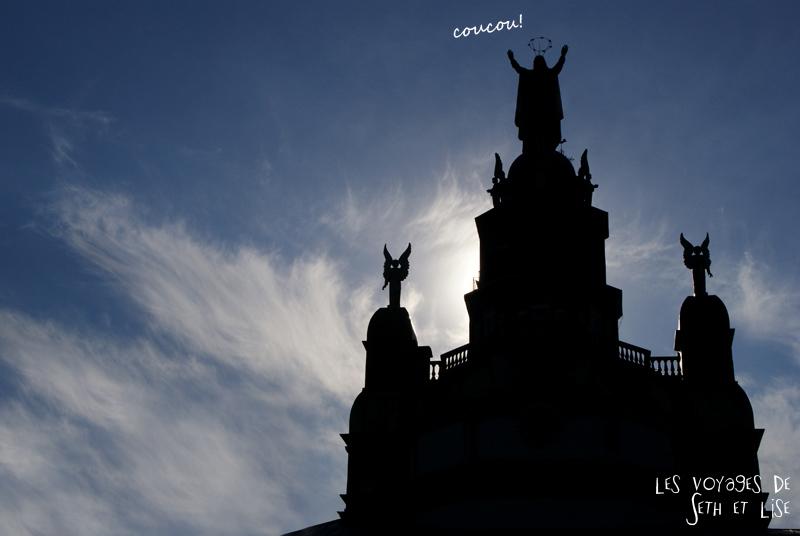 blog canada montreal pvt couple tour du monde voyage jesus joke christ architecture silhouette