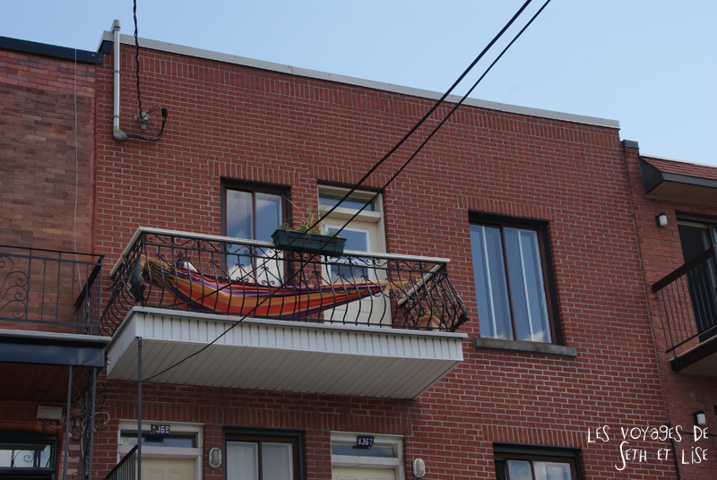 blog canada voyage pvt whv montreal moving day demenagement photo insolite hamac chill