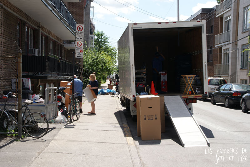 blog canada voyage pvt whv montreal moving day demenagement photo insolite