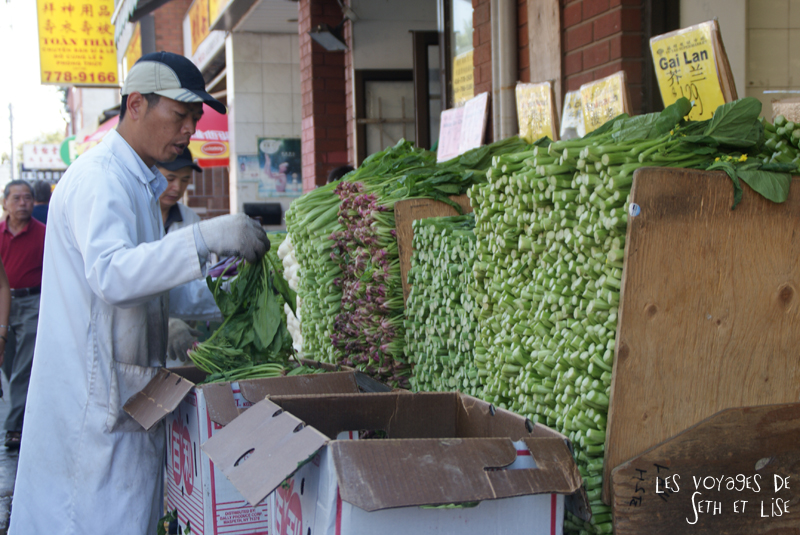 blog photo voyage pvt canada toronto ontario couple tour du monde travel photography marche legume chinatown vegetables