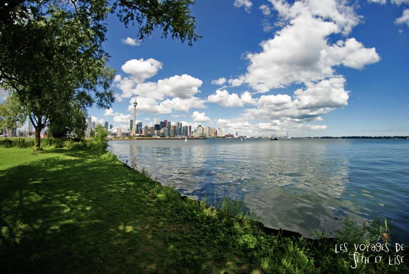Les îles de Toronto au large de la ville