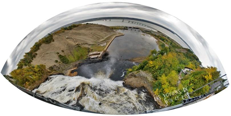 blog photographie canada pvt pvtiste voyage couple tour du monde quebec city ville chutes montmorency panoramique passerelle