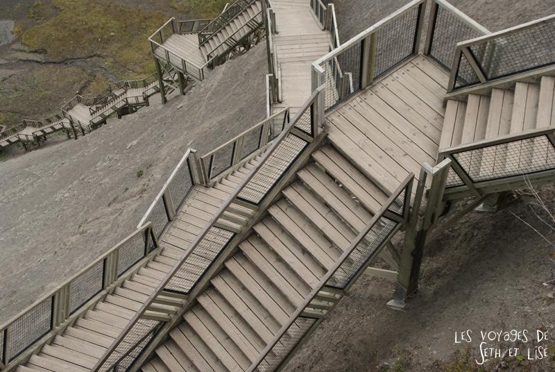 blog photographie canada pvt pvtiste voyage couple tour du monde quebec city ville chutes montmorency escalier