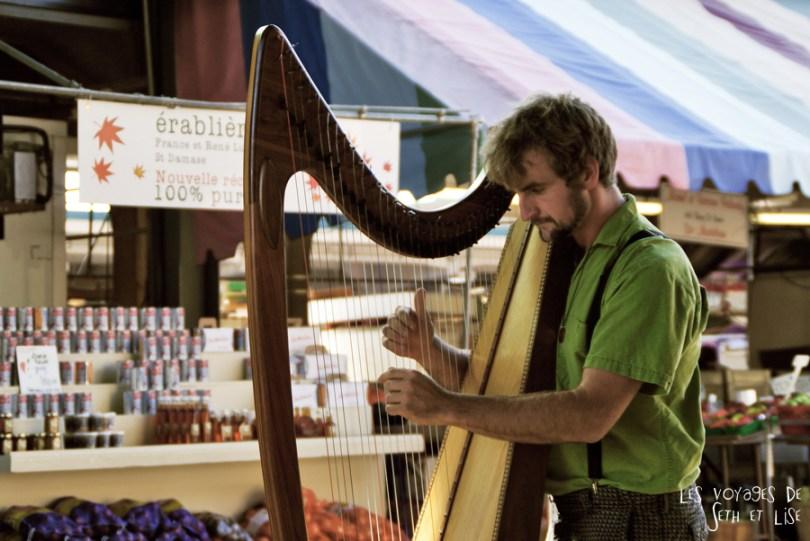 blog voyage canada photo hobbit lotr harpe musique music jean talon