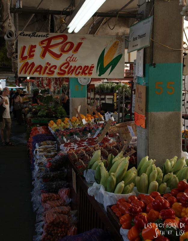 blog voyage canada photo montreal quebec humour jean talon market marche mais corn