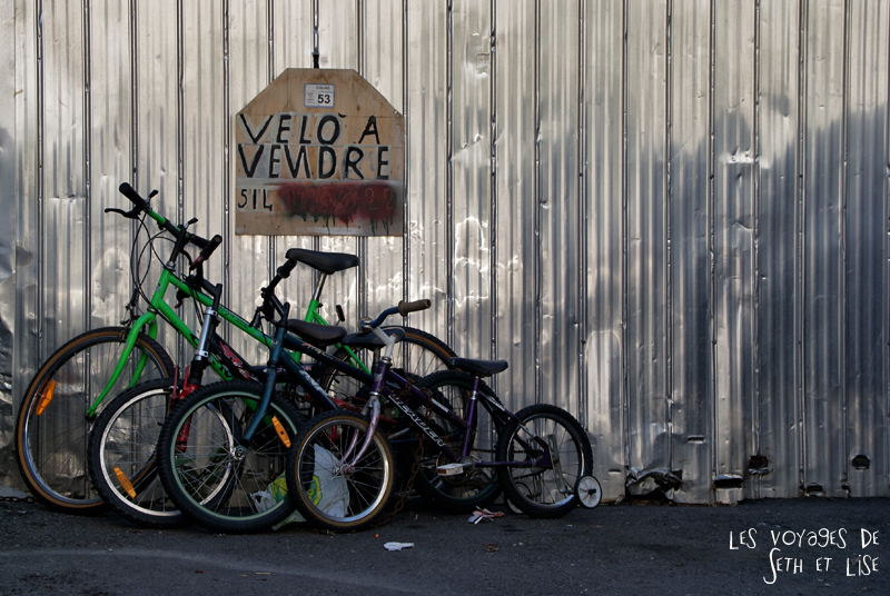 blog voyage canada photo montreal quebec humour bike bicycle velo sale