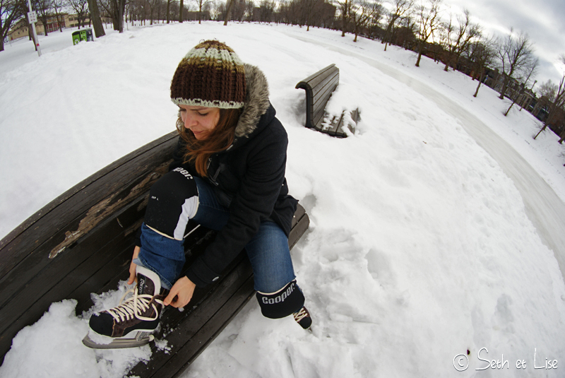 Patin à glace sur le Lac Lafontaine