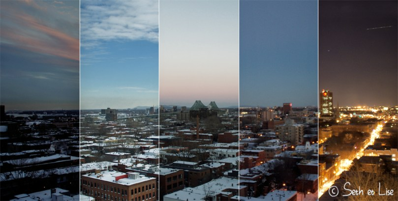 blog voyage photo canada pvt montreal day jour evolution aube nuit