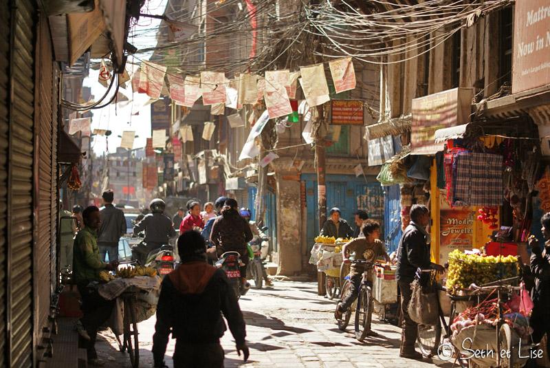 blog voyage nepal tour du monde durbar square katmandou rue