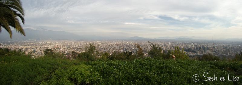 vue du sommet du cerro san cristobal