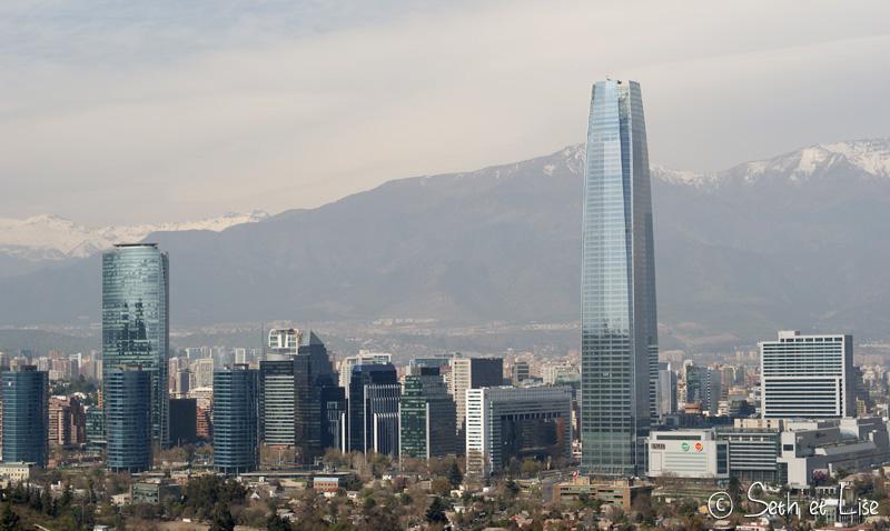 building depuis le cerro san cristobal