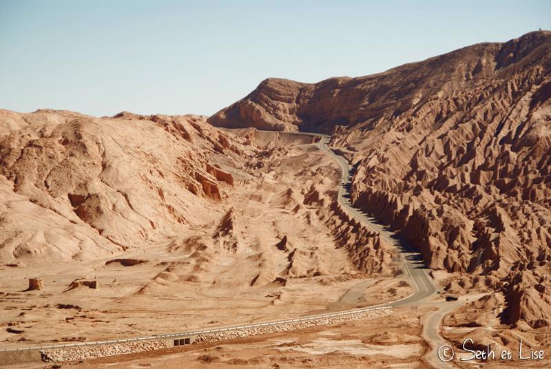 Vallée de la mort dans le désert d'Atacama