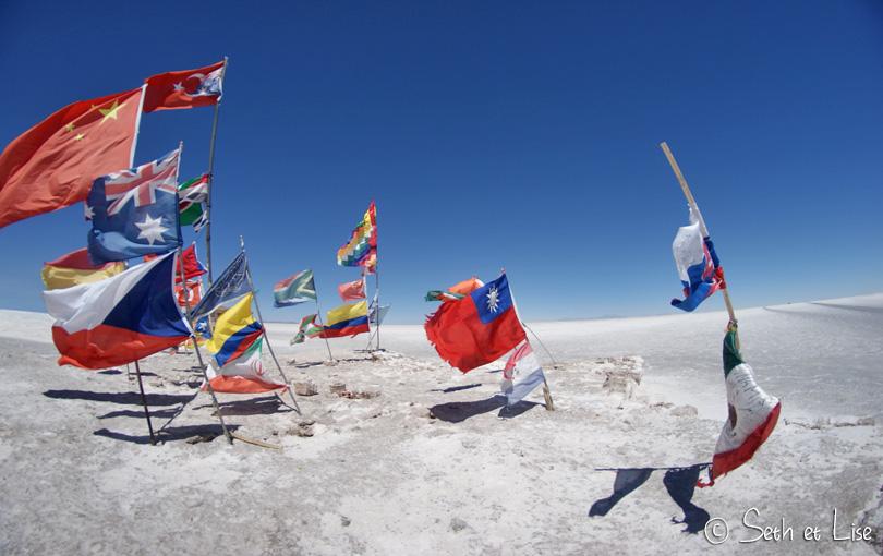 salar uyuni bolivia flag