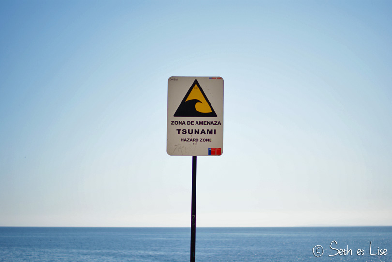 panneau tsunami