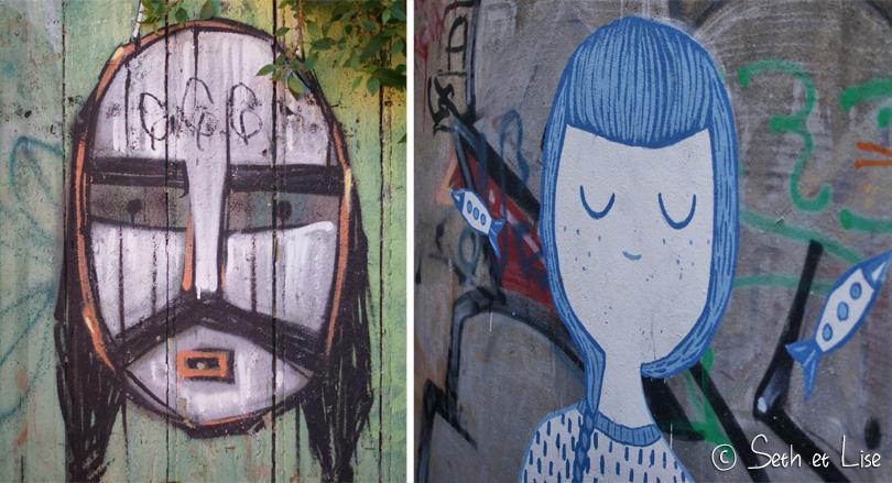 deux oeuvres de street art