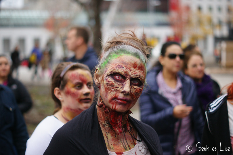 scary zombie marche des zombies montreal