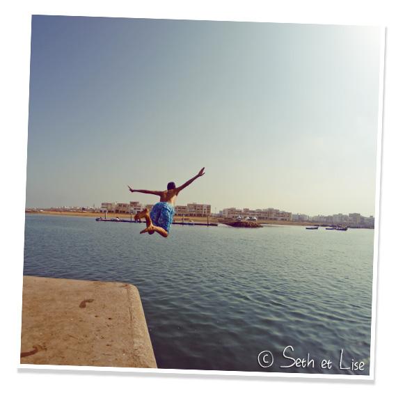 jumping rabat ocean