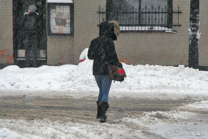 passage pieton neige montreal