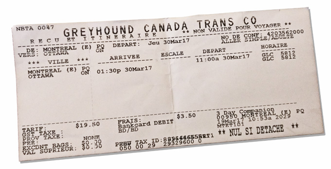 greyhound ticket ottawa montreal