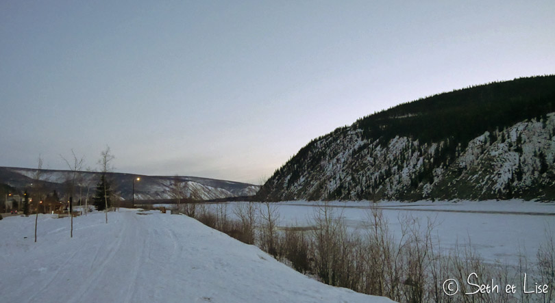 dawson city sunset spring