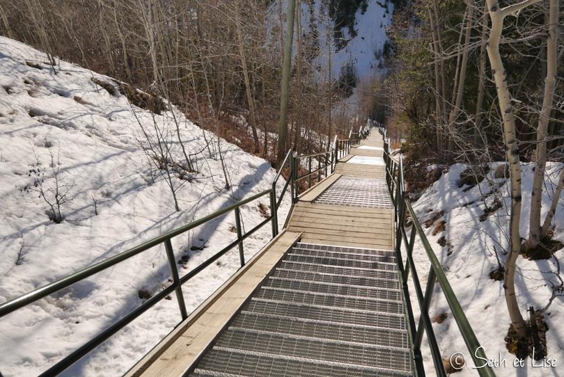 black street stairs whitehorse