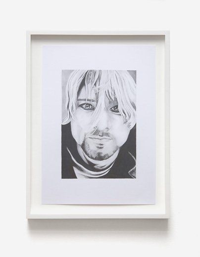 Graham Dolphin, Fan Drawings (Kurt Cobain), Detail 4
