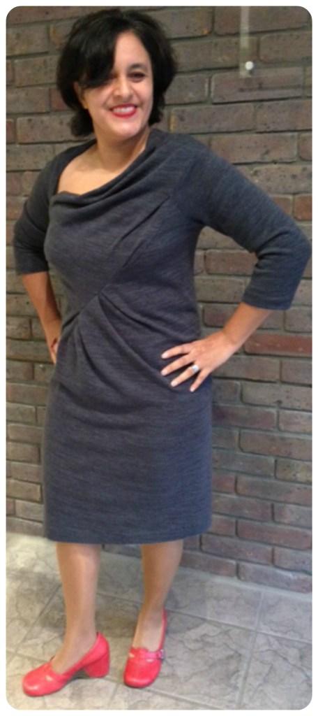 Donna Karan warm jersey dress