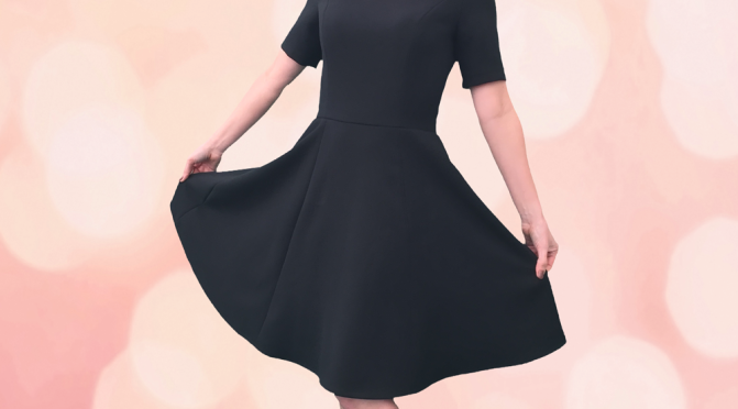 Black Dress with Princess seams