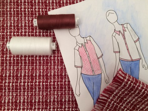 Cruise Wear Shirt Sketch - Sewing Avenue