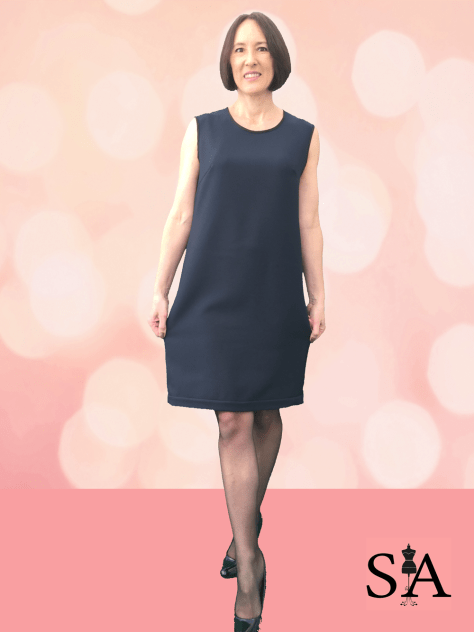 Sleeveless Shift Dress - Front