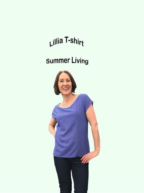 Lillia T-shirt Pattern blue image