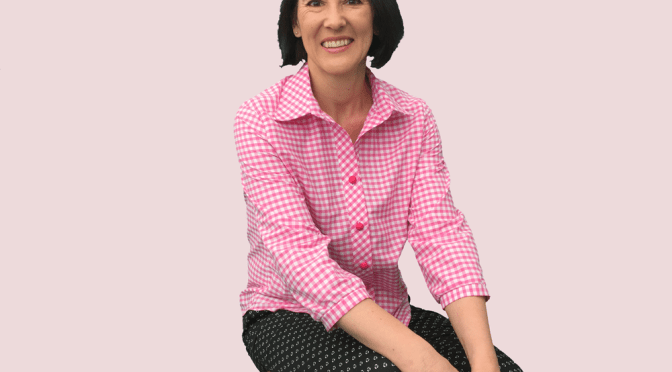 Gingham-Shirt-Seated image