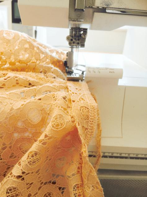 Lace Shirt Sewing image