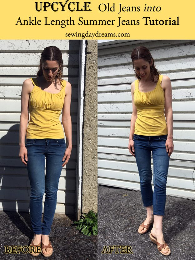 sewing daydreams - upcycle into ankle length summer jeans