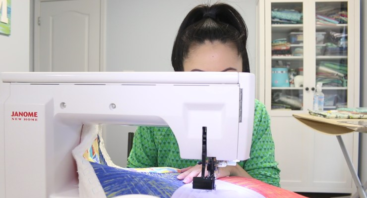 Jen Behind Janome 7700 Sewing Machine