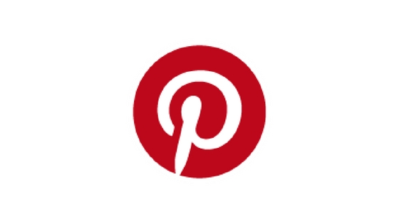 Pinterest logo white background