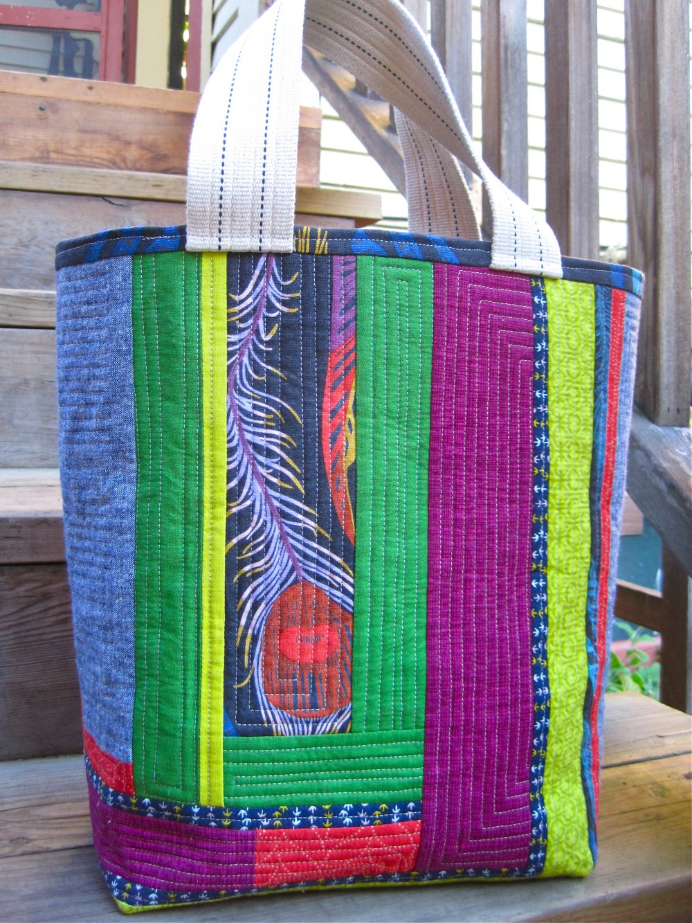Quilt As You Go Tote/sewkatiedid