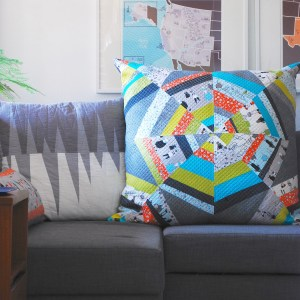 sew katie did | halloween spiderweb quilt block workshop