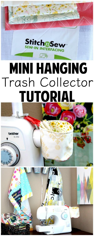 Hanging Thread Collector/Trash Bin Tutorial | www.sewwhatalicia.com