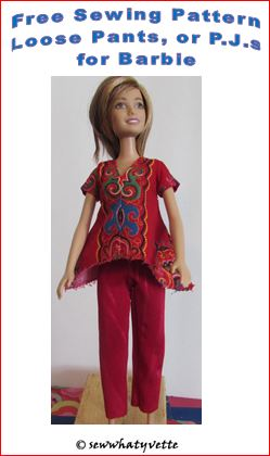 feature loose pants barbie