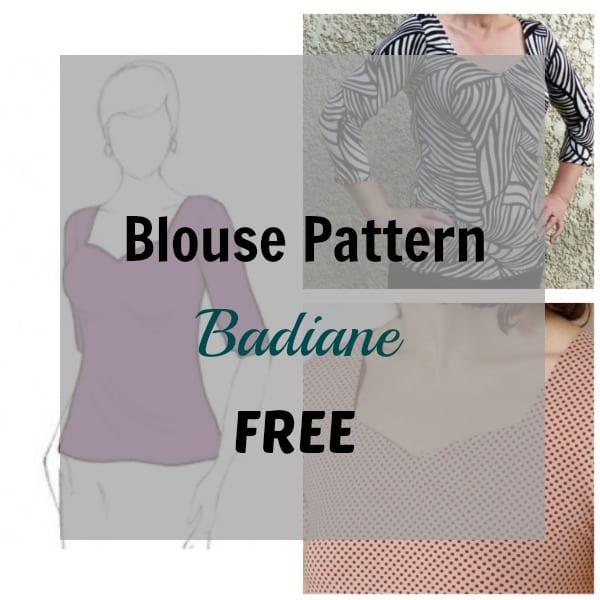 Blouse Pattern: Badiane