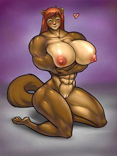 3d muscle girl futa
