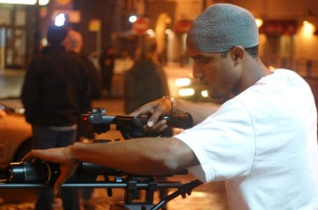 Filmmaker Damon Jamal of In Yo Face Filmworks at a recent videoshoot