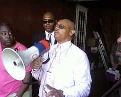Rev. Pinkney is confined to his home under a house arrest order he is fighting in court. – Photo: Abayomi Azikiwe