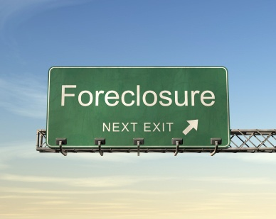 Foreclosure next exit sign